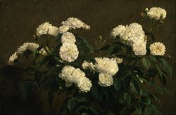 Still Life of White Roses by Henri Fantin Latour