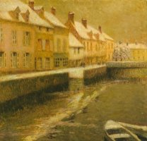 Canal in Bruges, Winter by Henri Le Sidaner