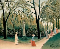 Rousseau, Henri The Luxembourg Gardens. Monument to Shopin by Henri Rousseau