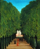 The Avenue in The Park at Saint Cloud by Henri Rousseau