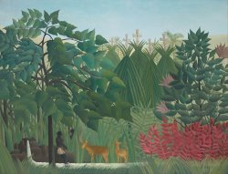 The Waterfall by Henri Rousseau