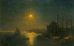 A Moonlit View of The Bosphorus by Ivan Constantinovich Aivazovsky