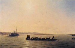 Alexander II Crossing The Danube by Ivan Constantinovich Aivazovsky