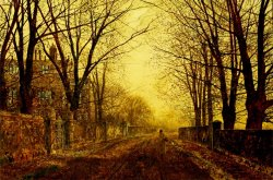 Nocturne in Gold C 1872 by John Atkinson Grimshaw