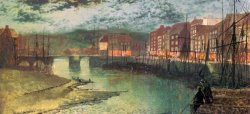 Whitby Docks by John Atkinson Grimshaw