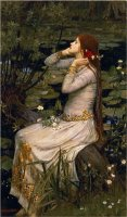 Ophelia 1894 by John William Waterhouse