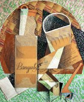 The Bottle of Banyuls by Juan Gris