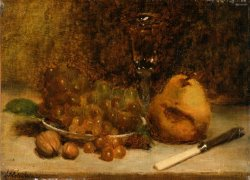 Grapes, Knife And Glass by Julian Alden Weir