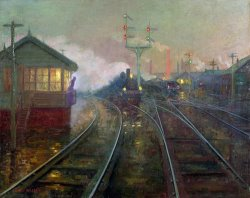 Train at Night by Lionel Walden
