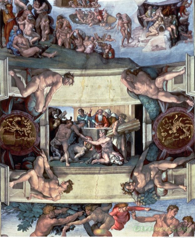a description of the sistine chapel ceiling as the most amazing painting of all time Michelangelo's sistine chapel ceiling is one of the most influential artworks of all time and a foundational work of renaissance art painted directly on the ceiling of the sistine chapel in the vatican, the masterpiece depicts key scenes from the book of genesis the complex narratives and.