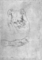 Studies for Pieta Or The Last Judgement by Michelangelo Buonarroti