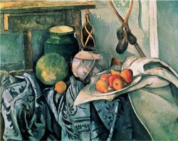 Still Life with Pitcher And Eggplant by Paul Cezanne