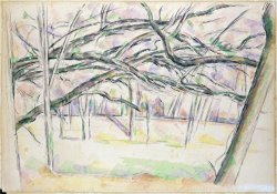 The Orchard C 1895 by Paul Cezanne