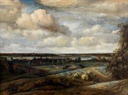 Dutch Panorama Landscape with a Distant View of Haarlem by Philips Koninck