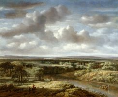 River Landscape by Philips Koninck
