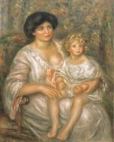 Mother And Child (madame Thurneyssen And Her Daughter) by Pierre Auguste Renoir