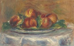 Peaches on a Plate by Pierre Auguste Renoir