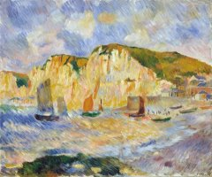 Sea And Cliffs by Pierre Auguste Renoir