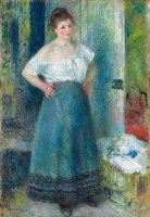 The Laundress by Pierre Auguste Renoir