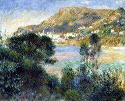 View From Cap Martin of Monte Carlo by Pierre Auguste Renoir