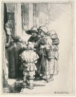 Beggars at The Door by Rembrandt