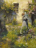 Jardin De Paysanne (peasant Garden) by Robert William Vonnoh