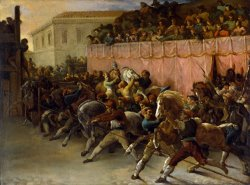 Riderless Racers at Rome by Theodore Gericault