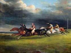 The Epsom Derby by Theodore Gericault