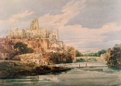 Durham Castle and Cathedral by Thomas Girtin