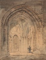 St. Alban's Cathedral, Hertfordshire by Thomas Girtin
