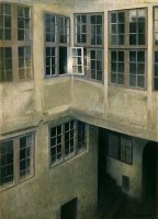Interior of Courtyard, Strandgade 30 by Vilhelm Hammershoi