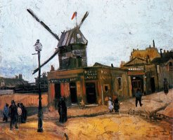 Le Moulin De La Galette 1 by Vincent van Gogh
