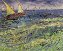 Seascape At Saintes-maries 1888 by Vincent van Gogh