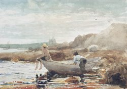 Boys on the Beach by Winslow Homer