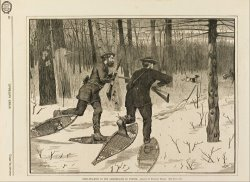 Deer Stalking in The Adirondacks in Winter, From Every Saturday, January 21, 1871, P. 57 by Winslow Homer