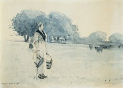 Milkmaid by Winslow Homer