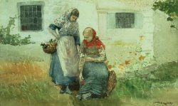 Picking Flowers by Winslow Homer
